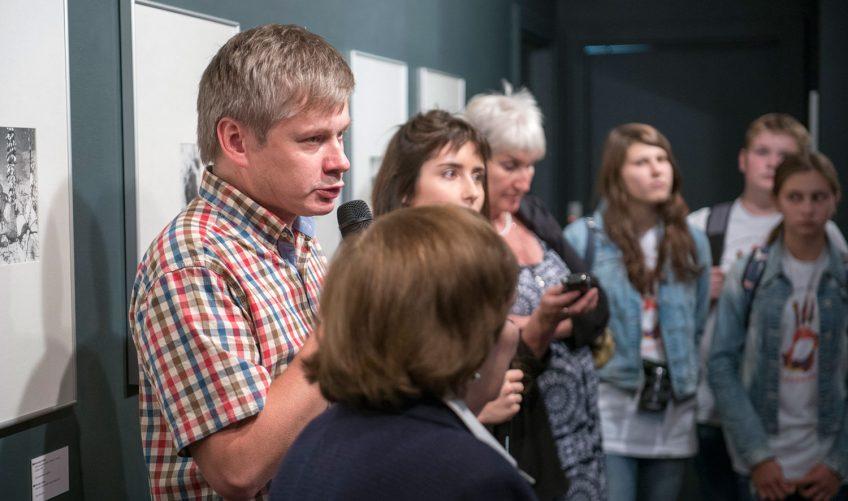 Игорь Лебедев на открытии выставки